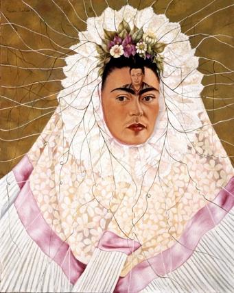 Frida Kahlo: 'Selvportræt som Tehuana eller Diego i mine tanker', 1943