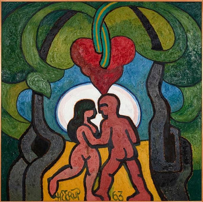 Henry Heerup: 'Elskende par i hjerteskoven, 1963
