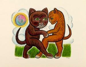 Henry Heerup: 'Dansende katte'