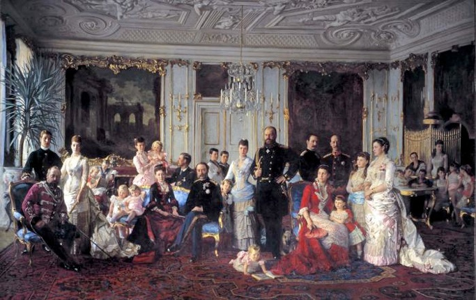 Laurits Tuxen: 'Christian 9. med familie', 1886