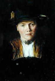 Wilhelm Leibl: 'Portræt af en bayersk pige', 1897