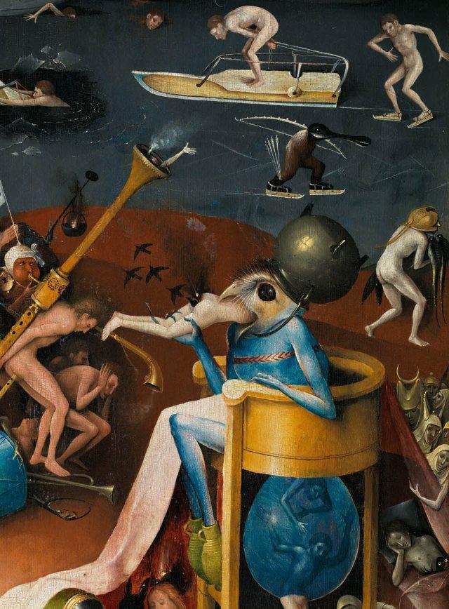 Detalje fra Hieronymus Boschs 'De Jordiske Glæders Have', ca. 1503