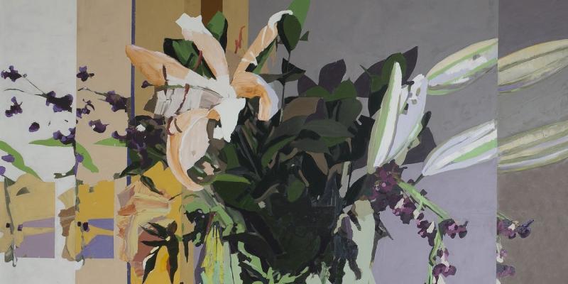 Erik A. Frandsen, detalje af maleri i Landstinget, Christiansborg, 2014