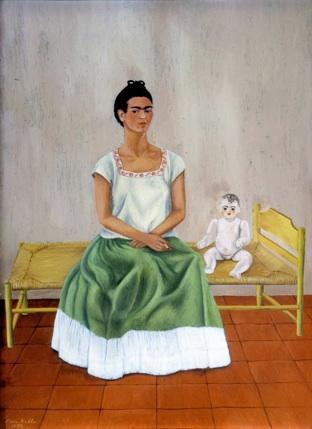 Frida Kahlo: 'Selvportræt på sengen eller mig og min dukke', 1937