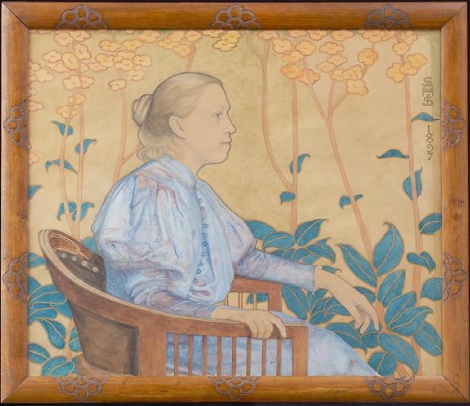 Susette Cathrine Holten født Skovgaard: 'Portræt af Elise Constantin-Hansen', 1897