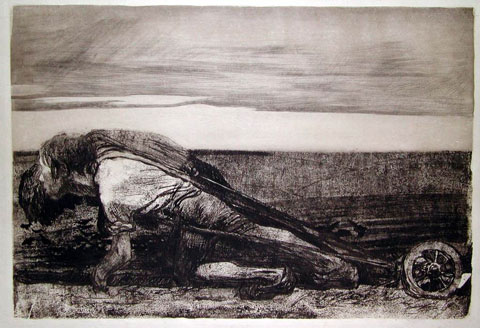 Käthe Kollwitz: 'Pløjeren' (eller: 'Pløjemanden'), 1906