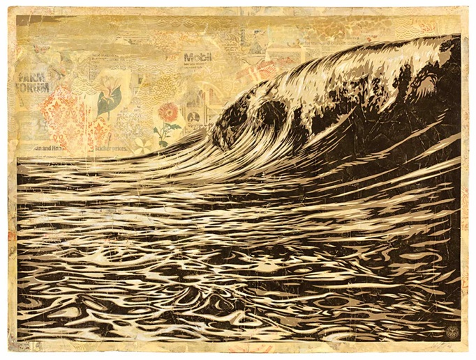 Shepard Fairey: 'Dark Wave'