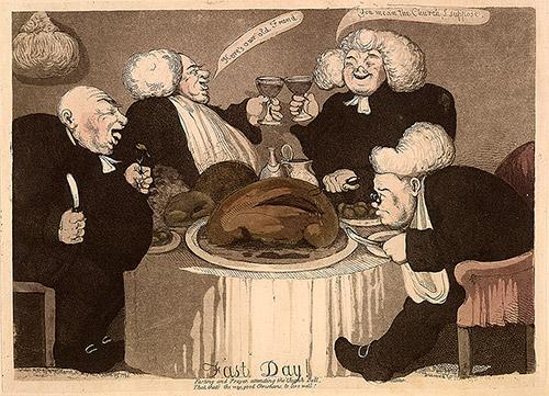 Richard Newton: 'Fast Day!', 1793