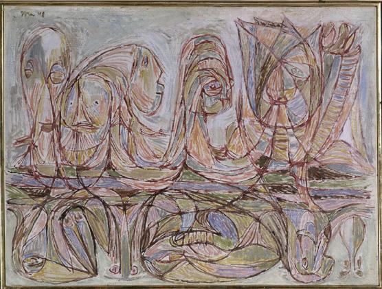 Asger Jorn: 'Tunesisk drøm', 1948