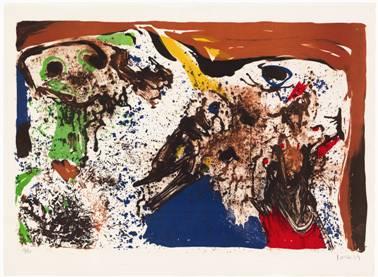 Asger Jorn: 'La fete des morts', 1969