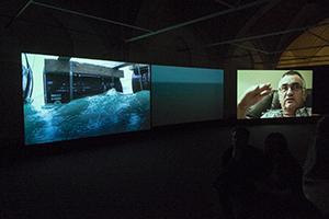 Installationsshot fra 'Drifting' i Nikolaj Kunsthal