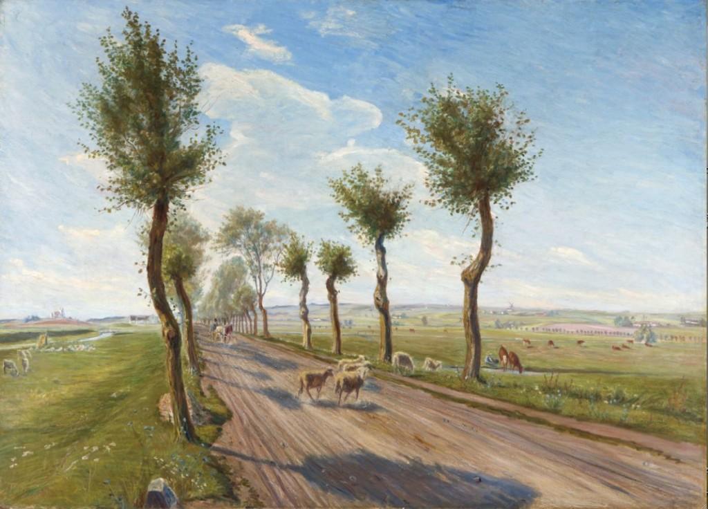 Theodor Philipsen: 'Landevej ved Faarevejle', 1900