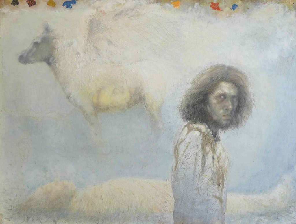 Kurt Trampedach: 'Selvportræt med Pegasus og mumie', 1986. The Schroeder Collection