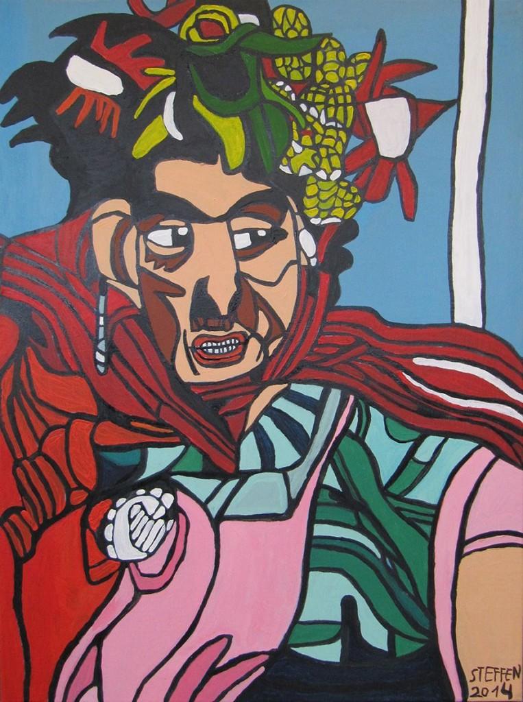 Steffen de la Motte Maahr: 'Frida Kahlo III'