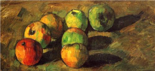Paul Cézanne: 'Stilleben med syv æbler', 1878