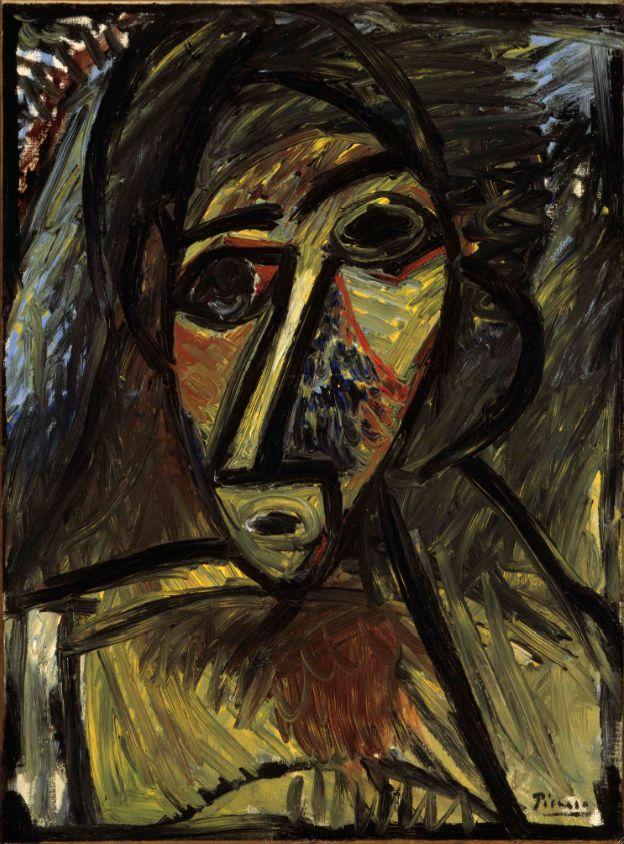 Pablo Picasso: 'Buste de femme', skitse til 'Les demoiselles d'Avignon', 1907