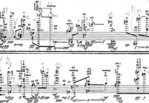 Partitur til John Cages 'Freeman Etudes'