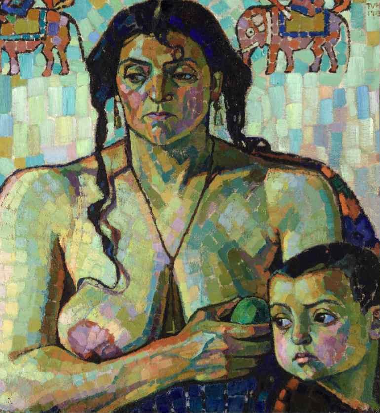 Tora Vega Holmström: 'Främlingar', 1913-14