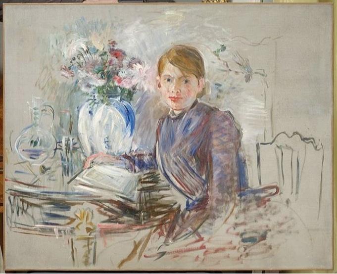 Berthe Morisot: 'Siddende ung pige', 1889