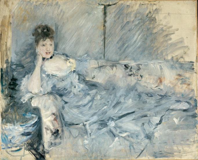 Berthe Morisot: 'Liggende ung kvinde i gråt', 1879