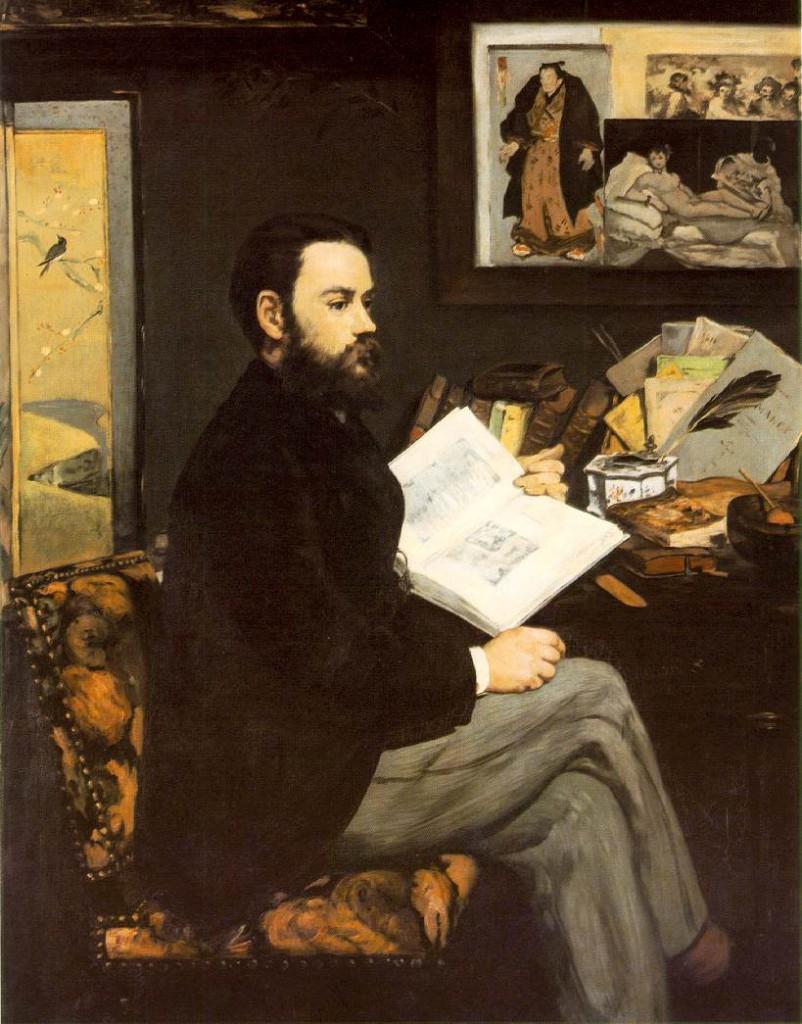 Édouard Manet: 'Portræt af Emile Zola', 1868
