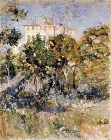 Berthe Morisot: 'Villa omgivet af appelsintræer', 1882