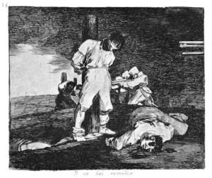 Francisco Goya fra serien 'Krigens rædsler', 1810-1820