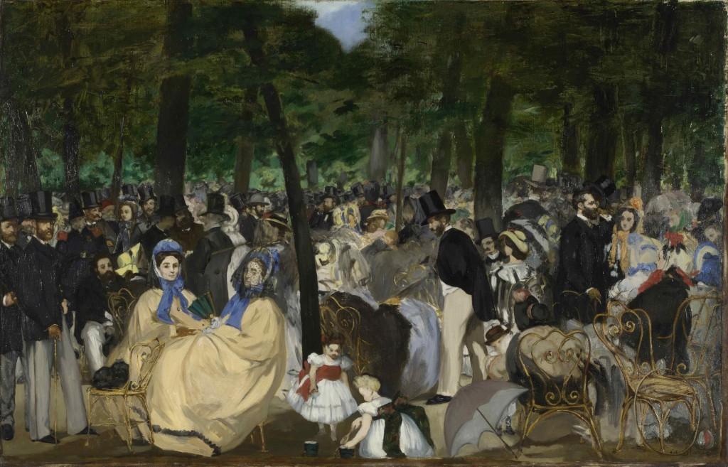 Édouard Manet: 'Musik i Tuileries Haven', 1862