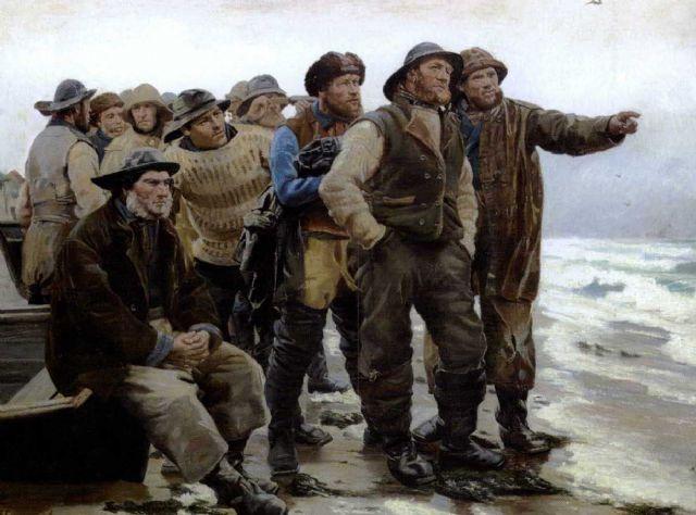 Michael ancher: 'Vil han klare pynten?', 1879