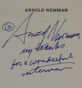 Arnold Newmans hilsen