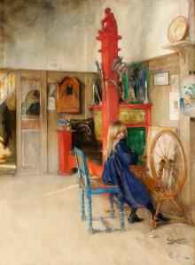 Carl Larsson: 'En solstråle', 1893
