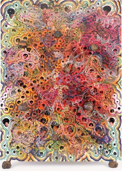 Chris Ofili: 'Afrodizzia', 1998