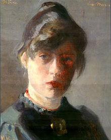 Marie Krøyer: 'Selvportræt', 1889