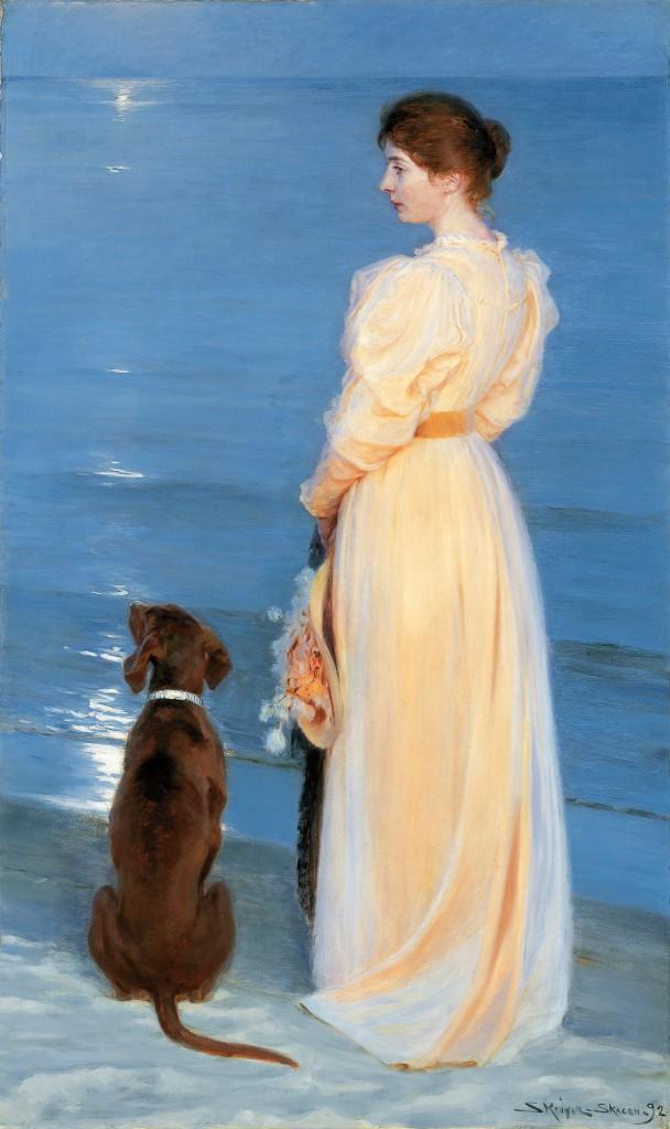 P.S. Krøyer: 'Sommeraften ved Skagen', 1892. Ny Carlsberg Glyptotek, deponeret på Skagens Museum. Foto: Skagens Museum