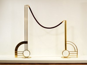 Roy Lichtenstein: 'Modern Sculpture with Velvet Rope', 1968