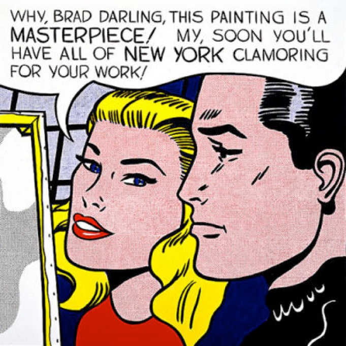 Roy Lichtenstein: 'Masterpiece', 1962