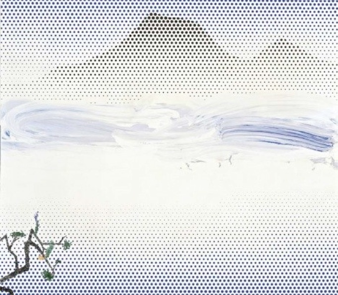 Roy Lichtenstein: 'Landscape in fog', 1996