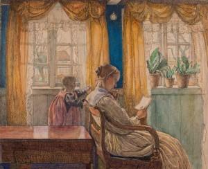 Fritz Syberg: 'Anna Syberg og barn', 1897