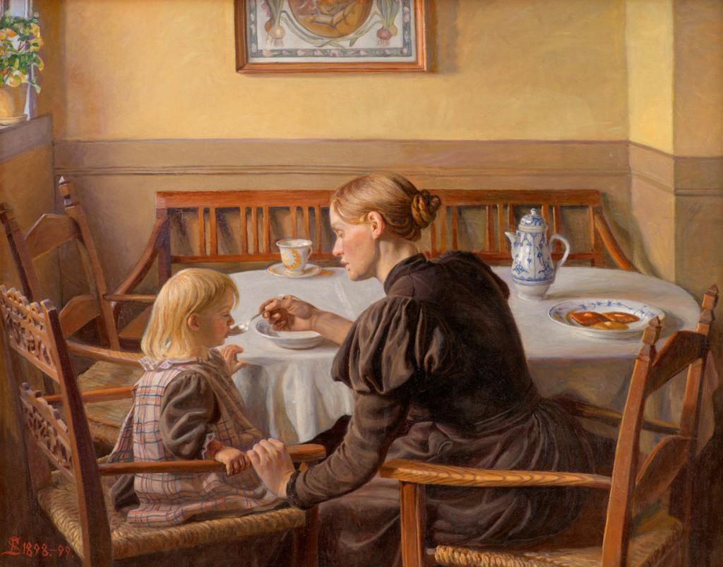 Fritz Syberg: 'Moder og datter', 1898-1899