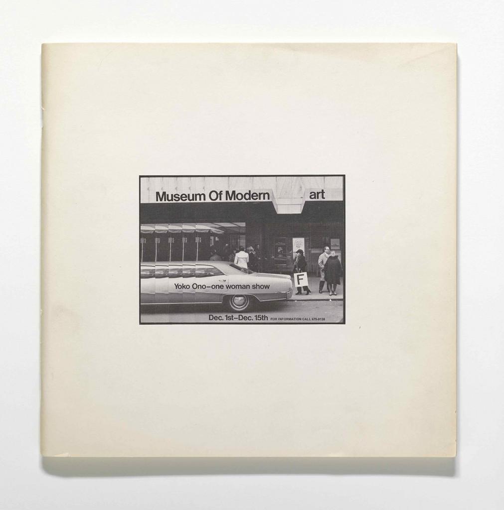 Yoko Ono: 'Museum of Modern (F)art', 1971. The Museum of Modern Art Library.  © Yoko Ono 2014