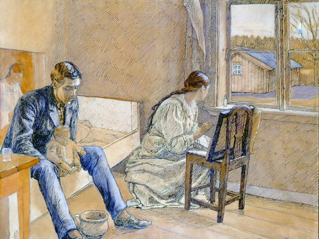 Fritz Syberg: 'En kunstnerfamilie. Båxhult' 1899