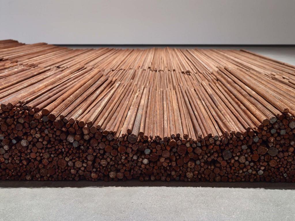 Detalje af Ai Weiwei: 'Straight', 2008-2012. Foto: Anders Sune Berg