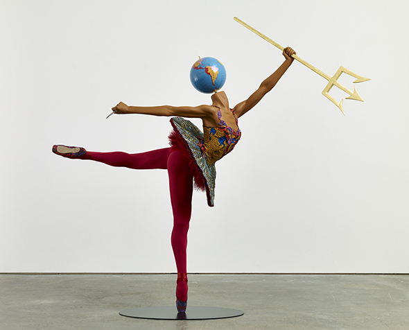 Yinka Shonibare: 'Ballet God (Poseidon)', 2015. © the artist / DACS, London. Courtesy James Cohan Gallery, New York and Shanghai. Foto: Stephen White.