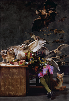 Yinka Shonibare: 'The Sleep of Reason Produces Monsters (America)' 2008.  © Yinka Shonibare, MBE. Courtesy of James Cohan Gallery, New York and Shanghai