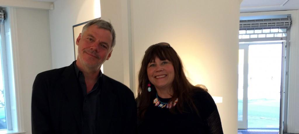 Christian Lemmerz og mig i Hans alf Gallery, juni, 2015