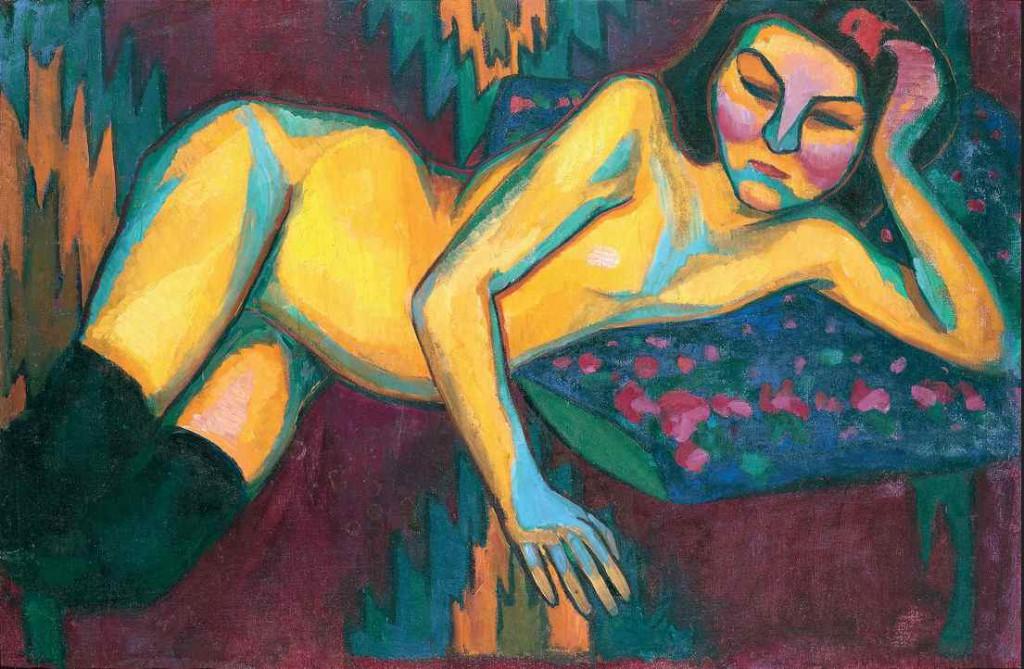Sonia Delaunay: 'Yellow Nude', 1908. Musée des Beaux-Arts de Nantes  © Pracusa 2014083