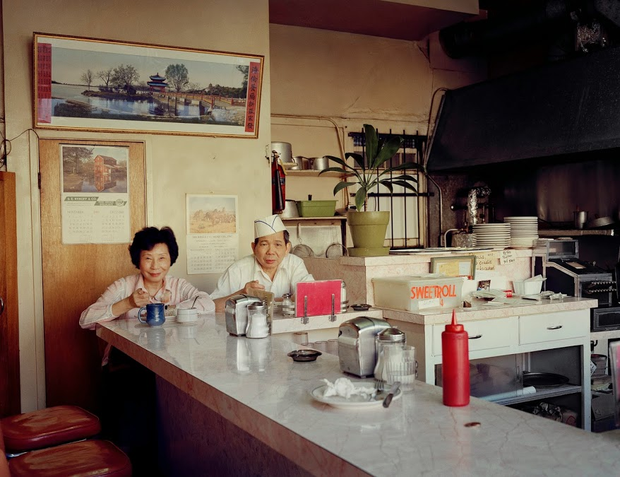 Janet Delaney: 'Helen and her Husband at the Helen Café, 486 Sixth Street', 1980