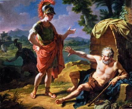 Nicolas-André Monsiau: 'Alexander og Diogenes', 1818