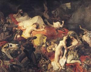 Eugène Delacroix: 'Sardanapalus' død', 1827