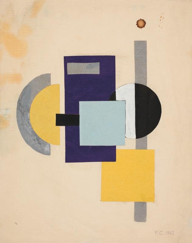 Franciska Clausen: 'Lille Konstruktivistisk studie', 1922